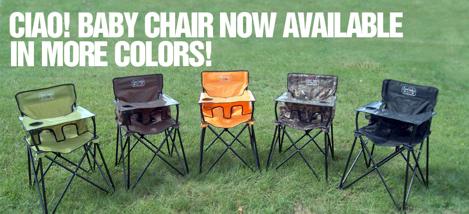 The Portable High Chair Is Now Available In Chocolate, Sage, Orange, And  Mossy Oak.