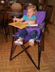 Shelby reading a book!